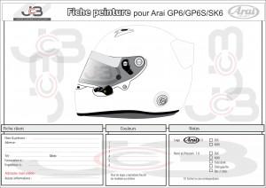 Casque Arai GP-6 maquette JCB 2016 002